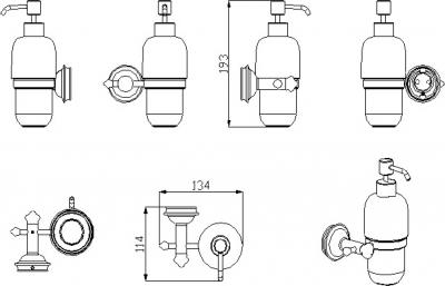 Sapho ASTOR dávkovač mýdla, chrom 1325-19