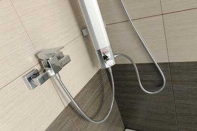 Aqualine TOUR sprchový sloup k napojení na baterii, výška 1100mm, hliník SL030
