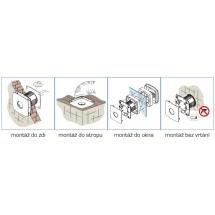 Cata X-MART 12 koupelnový ventilátor axiální, 20W, potrubí 120mm, nerez 01050000