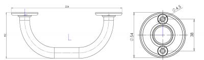 Aqualine Madlo k vaně 20 výška pouze 8cm, bílá 8005