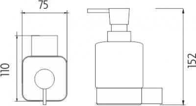Nimco Kibo Dávkovač tekutého mýdla Ki 14031C-26