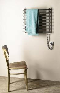 Aqualine Elektrický sušák ručníků, 570x465 mm, 72 W, šedý hliník - metalíza (RAL9007) SU210A