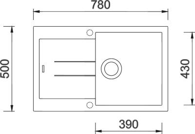 Granitový dřez Sinks AMANDA 780 Truffle+MIX 3P GR TLA780M3P54