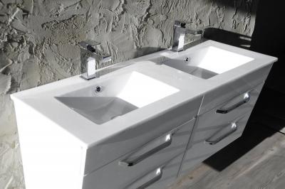 Sapho SLIM keramické dvojumyvadlo 120x46cm, nábytkové 1601-120