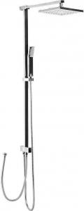 Sapho Sprchový sloup k napojení na baterii, pevná a ruční sprcha, hranatý, chrom 1202-16
