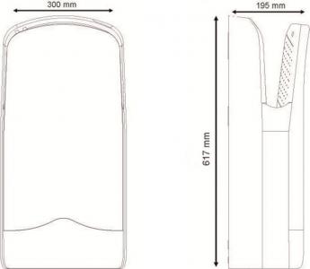 Sapho V-JET tryskový osoušeč rukou 1760 W, bílá 01303.W