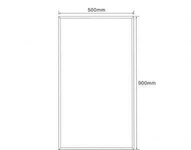 Aqualine Zrcadlo 50x90cm, s fazetou, bez úchytu 22497