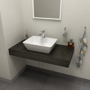 Sapho TAILOR rockstone deska 90x50 cm, provedení límce R TR090R