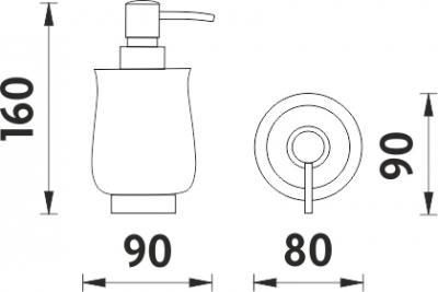 Nimco Lada stojánková Dávkovač tekutého mýdla 1031LA-80