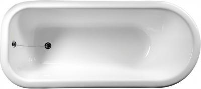 Polysan FOXTROT volně stojící vana 170x75x64cm, nohy bronz, černá/bílá 72963