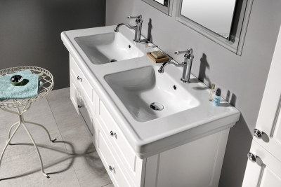 GSI CLASSIC keramické dvojumyvadlo 125x54 cm, bílá ExtraGlaze 8725111