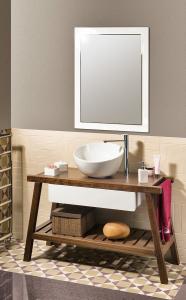 Sapho DOME OBLIQUO keramické umyvadlo 44, 5x26, 5(11, 5)x44, 5 cm, na desku, bez přepadu W031701