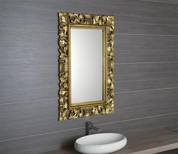 Sapho SCULE zrcadlo v rámu, 80x120cm, zlatá IN316