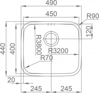 Nerezový dřez Sinks LAGUNA 490 V 0,8mm trojmontáž leštěný RDLAL4904408V
