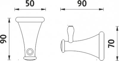 Nimco Lada staromosaz Háček jednoduchý LA 19054-65