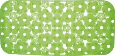 Aqualine MARGHERITA podložka do vany 34, 5x72cm s protiskluzem, PVC, zelená 973572P8