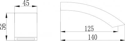 Sapho GINKO výtoková hubice, chrom 1205-03