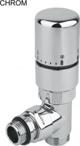 Sapho TWIN připojovací sada ventilů termostatická pro středové připojení, levé, chrom CP3012