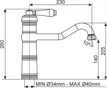 Sinks RETRO CASANOVA MP68069