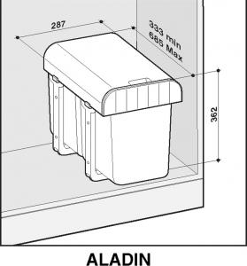 Sinks ALADIN 40 1x16 l MP68083