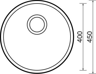 Nerezový dřez Sinks ROUND 450 V 0,6mm matný STSROM4506V