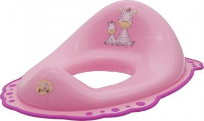 Aqualine Dětské WC sedátko Zebra, růžová 3646