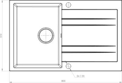 Granitový dřez Sinks GRANDE 800 MP68237