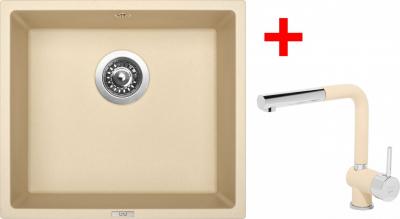 Granitový dřez Sinks FRAME 457 Sahara+MIX 3P GR ACRF457M3P50