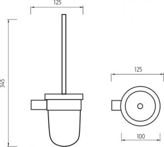 Nimco Bormo Toaletní WC kartáč BR 11094WN-26