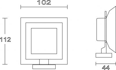 Aqualine APOLLO mýdlenka, mléčné sklo 1416-02