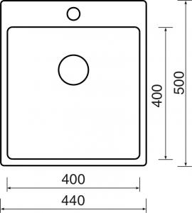 Nerezový dřez Sinks BLOCKER 440 V 1mm kartáčovaný MP68290