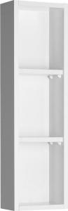 Aqualine ZOJA policová skříňka k zrcadlu Korin, 20x70x12cm, bílá 45463