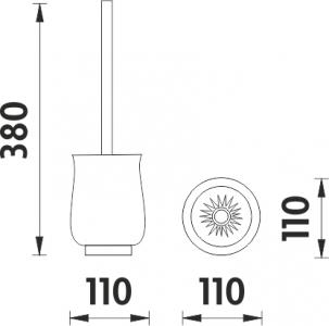 Nimco Lada stojánková Toaletní WC kartáč 1094LA-80