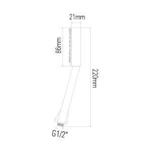 Sapho Ruční sprcha, průměr 86mm, ABS/chrom SK116