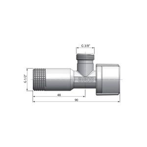 Arco ARCO rohový ventil A-80 1/2'x3/8', anticalc, chrom, pár A80MAC