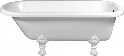 Polysan FOXTROT volně stojící vana 170x75x64cm, nohy bílé, bílá 68112