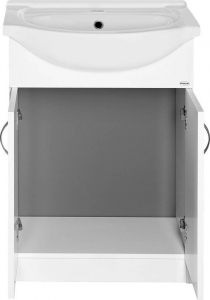 Aqualine SIMPLEX ECO 55 umyvadlová skříňka včetně umyvadla 53x83, 5x30, 7cm SIME550
