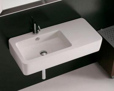 Kerasan EGO keramické umyvadlo 90x43cm, s odkládací plochou 324401