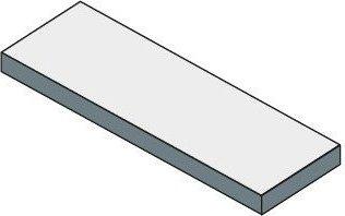 Sapho TAILOR rockstone deska 240x50 cm, provedení límce R TR240R