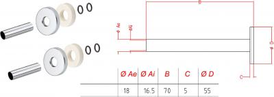 Sapho Set krycích rozet, chrom CP6035