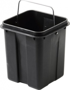 Aqualine SIMPLE LINE odpadkový koš hranatý 3l, leštěná nerez GAQ003