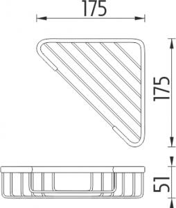 Nimco Open Drátěná polička OP 102N-26