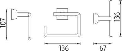 Nimco Pallas athéna Držák na toaletní papír PA 12055-26