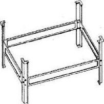 Aqualine Podpěrná konstrukce k vaně V105x65 PIED 105