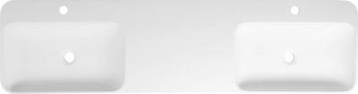 Sapho NIAGARA dvojumyvadlo, 150x14x40cm, bílá mat WN975