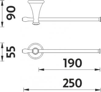 Nimco Lada staroměď Držák na ručníky LA 19060-80