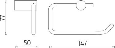 Nimco Bormo Držák na toaletní papír BR 11055-26