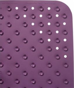 Ridder PLATFUS podložka 54x54cm s protiskluzem, kaučuk, fialová 67293