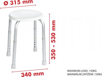 Ridder Sedátko koupelnové, průměr 32cm, bílá A00603101