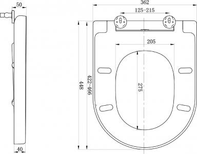 Sapho LISA WC sedátko, Soft Close, bílá 1703-746